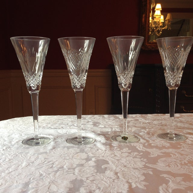 Waterford Crystal Champagne Flutes - Set of 4 - Image 2 of 5
