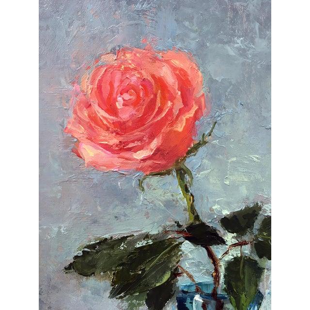 """Rose"" Original Oil Painting - Image 3 of 5"