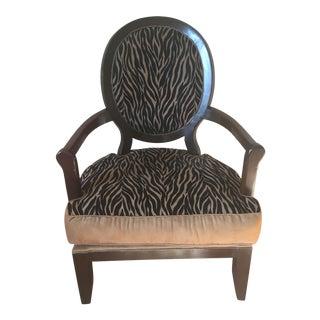 Zebra Print Accent Armchair