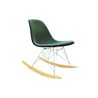 Herman Miller Rocking Chair with Hopsak Upholstery