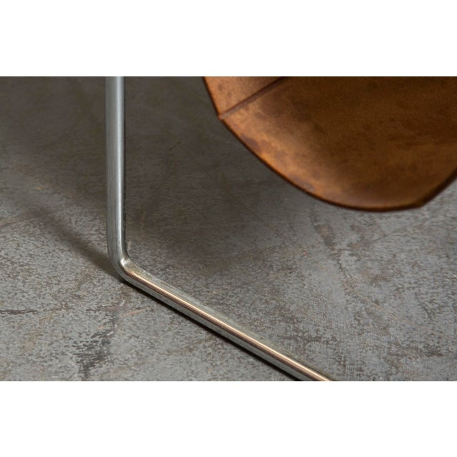 Mid-Century Leather and Chrome Magazine Stand - Image 9 of 9