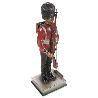 Vintage British Guard Lead Figurine Lighter