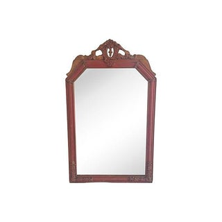 Neoclassical Painted and Carved Wood Mirror