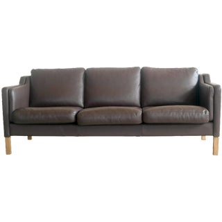 Børge Mogensen Style Leather Sofa by Skalma