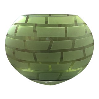 Green Oval Vase
