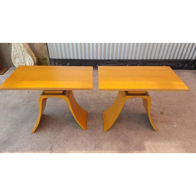 """Paul Frankl """"Bell"""" End Tables - Image 3 of 8"""