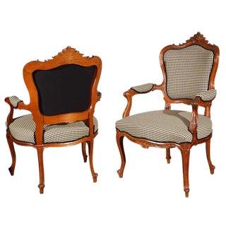 Louis XV Arm Chairs - A Pair