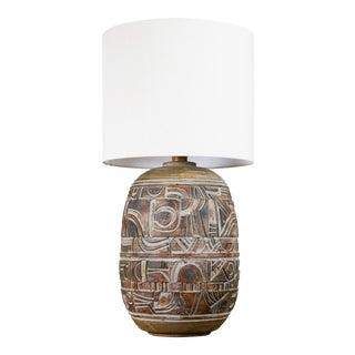 Large Brutalist Ceramic Table Lamp
