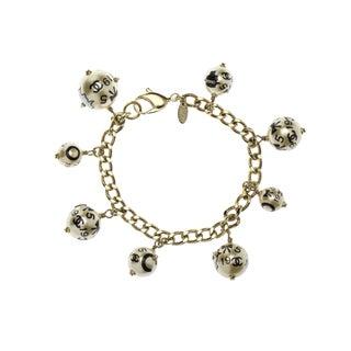 Chanel 2006 Faux Pearl Charm Bracelet