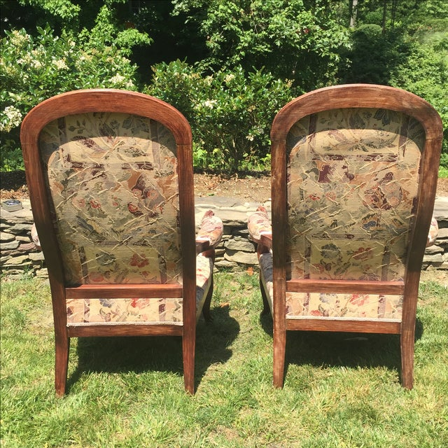 Vintage Victorian High Back Parlor Chairs - A Pair - Image 4 of 11