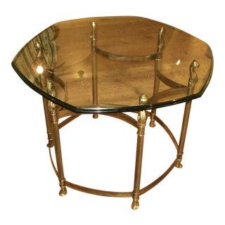 Mid Century Modern Brass & Glass Coffee Table