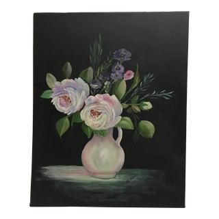 Vintage L. Burris Still Life Oil Painting