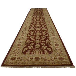 "Oushak Style Hand Knotted Runner - 2'8"" X 26'4"""