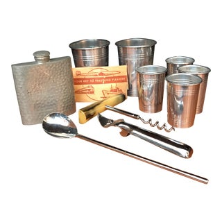 Vintage Travel Cocktail Set