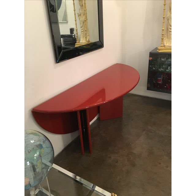 "Kazuhide Takahama Red Lacquered ""Antella"" Folding Console - Image 3 of 7"