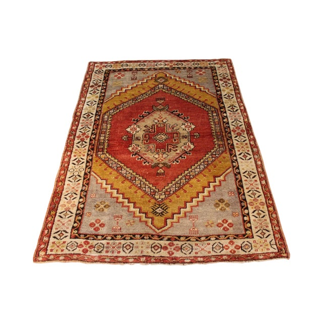 Vintage Turkish Woven Rug - 3'2'' x 4'7'' - Image 1 of 7