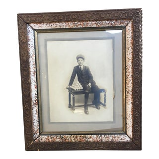 Vintage Framed Photograph of Boy, Circa 1915
