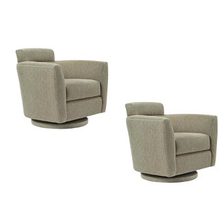Modern Swivel Chairs - A Pair