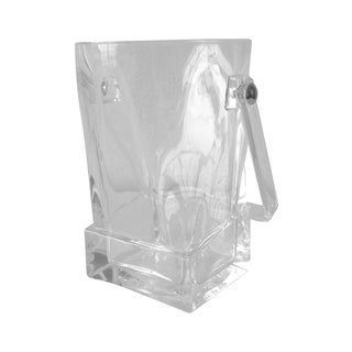 Acrylic Square Ice Bucket & Tongs