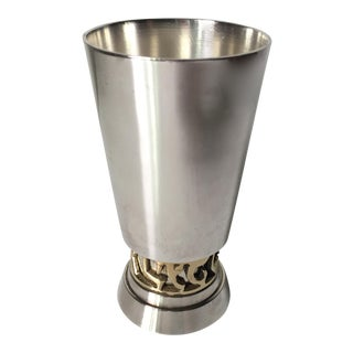 Vintage Danish Silver & Brass Shot Glass