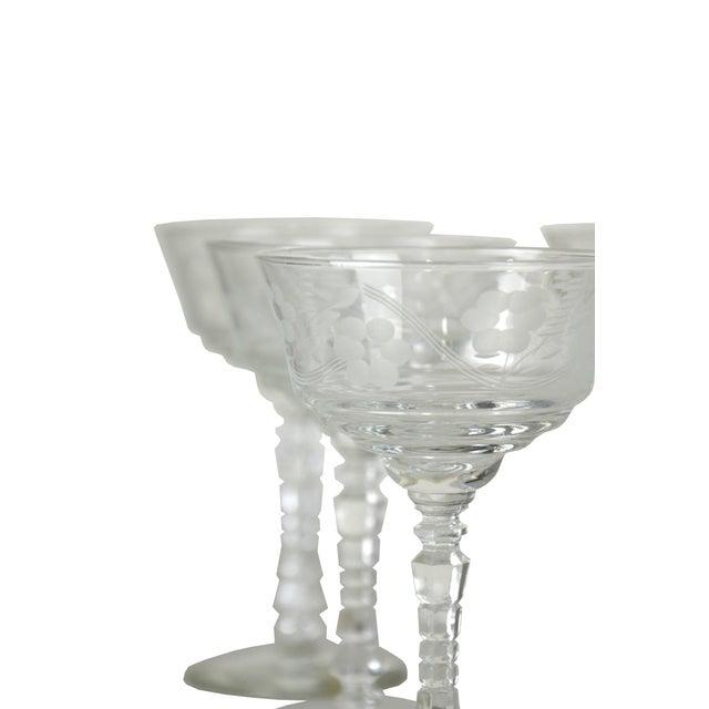 Image of Vintage Etched Goblets - Set of 9