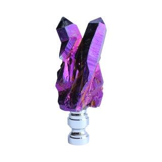Titanium Quartz Cluster Lamp Finial