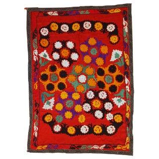 Handmade Vintage Uzbek Embroidered Suzani