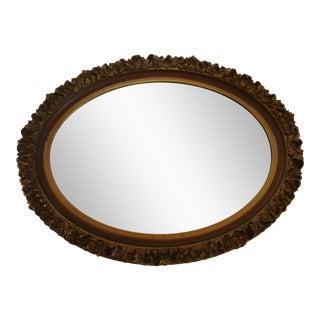 Vintage Oval Giltwood Mirror