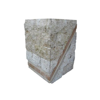 Modern Pedestal in Marble and Faux Stone