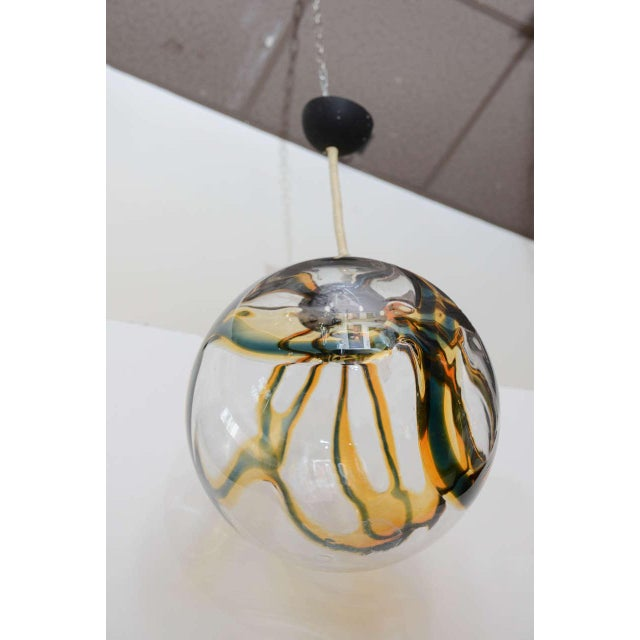 Gigantic Mazzega Murano Globe Hanging Light - Image 6 of 6