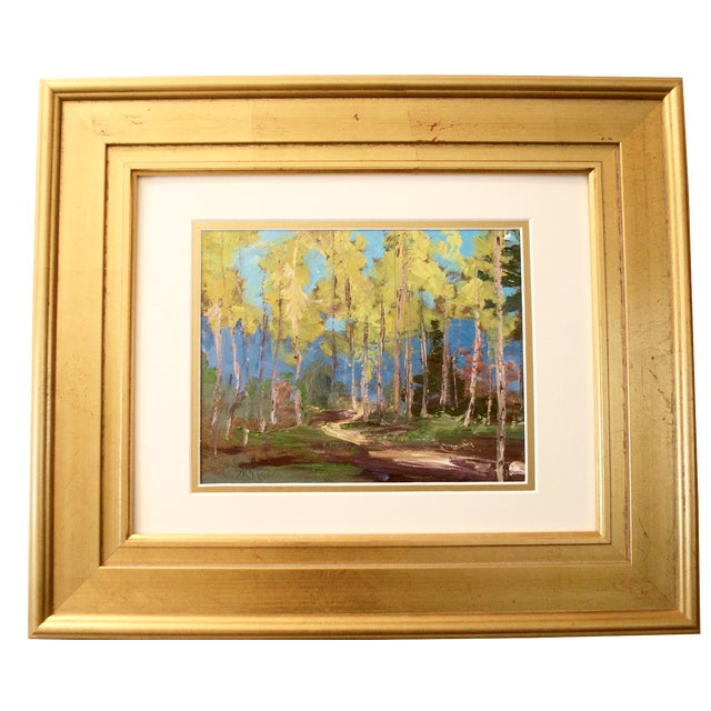 Yellow Aspen Trees Painting - Image 1 of 5
