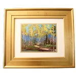 Image of Yellow Aspen Trees Painting