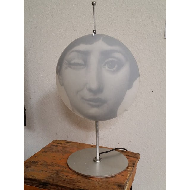 "Image of Rare Fornasetti ""Winking Julia"" Table Lamp"