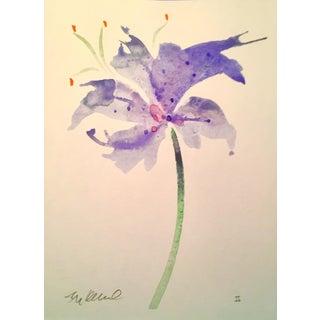"""""""Blue Star"""" Original Watercolor Painting"""
