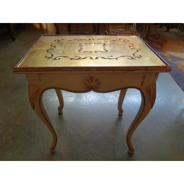 French Gilt Decorated Drinks Side Table - Image 2 of 5