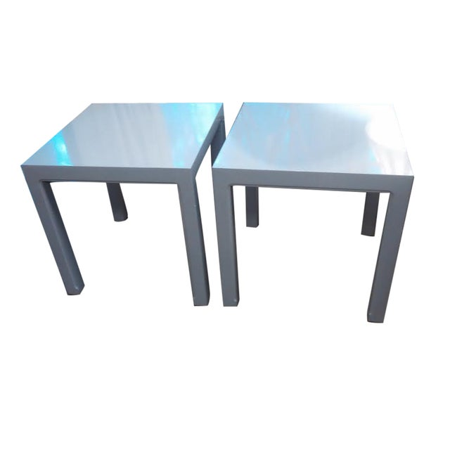 Parsons Style End Tables - A Pair - Image 1 of 5