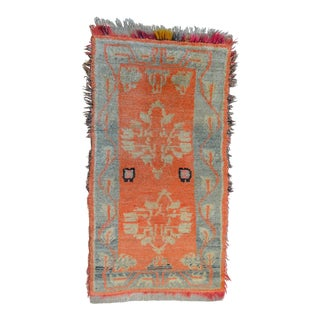 Vintage Turkish Oushak Accent Rug - 2′5″ × 4′10″
