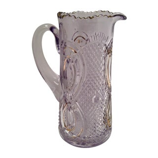Early 1900s Amethyst Cut Glass Pitcher