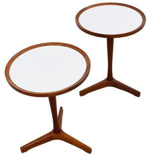 Hans C. Andersen Tripod Side Tables - a Pair