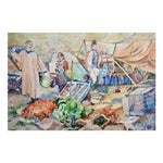 Image of Nancy Gray Oriental Village Market Painting