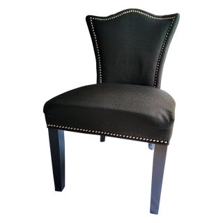 Black & White Greek Key Accent Chair