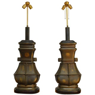 Chinese Bronze Vessel Table Lamps - Pair