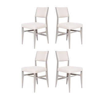 Set of 4 Maze Lacquered Dining Chairs