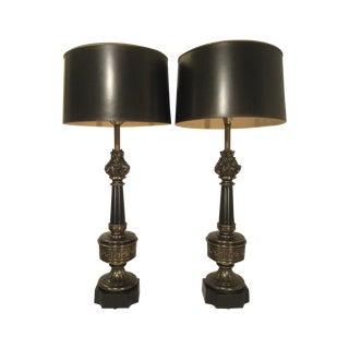 Vintage Stiffel Flame Lamps - A Pair