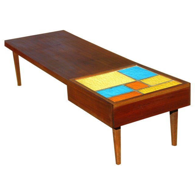 Mid-Century Coffee Table W/ Built-In Fondue Stove - Image 1 of 8