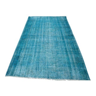 Aqua Overdyed Turkish Rug