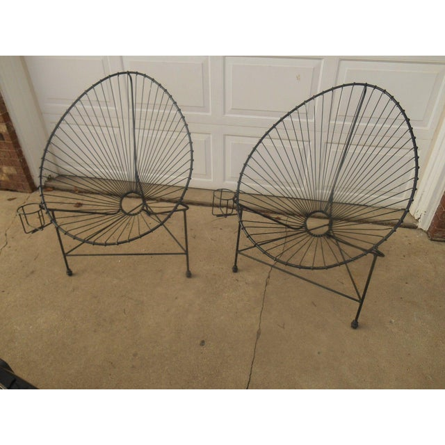 Mid-Century Modern Metal Egg Chairs - A Pair - Image 3 of 7