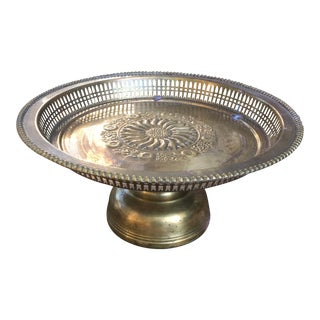 Brass Pedestal Platter