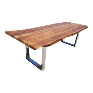 Handcrafted Acacia Wood Live Edge Dining