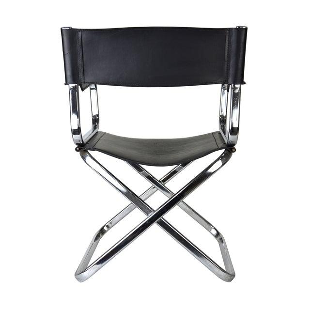 Italian Leather And Chrome Director S Chair Chairish